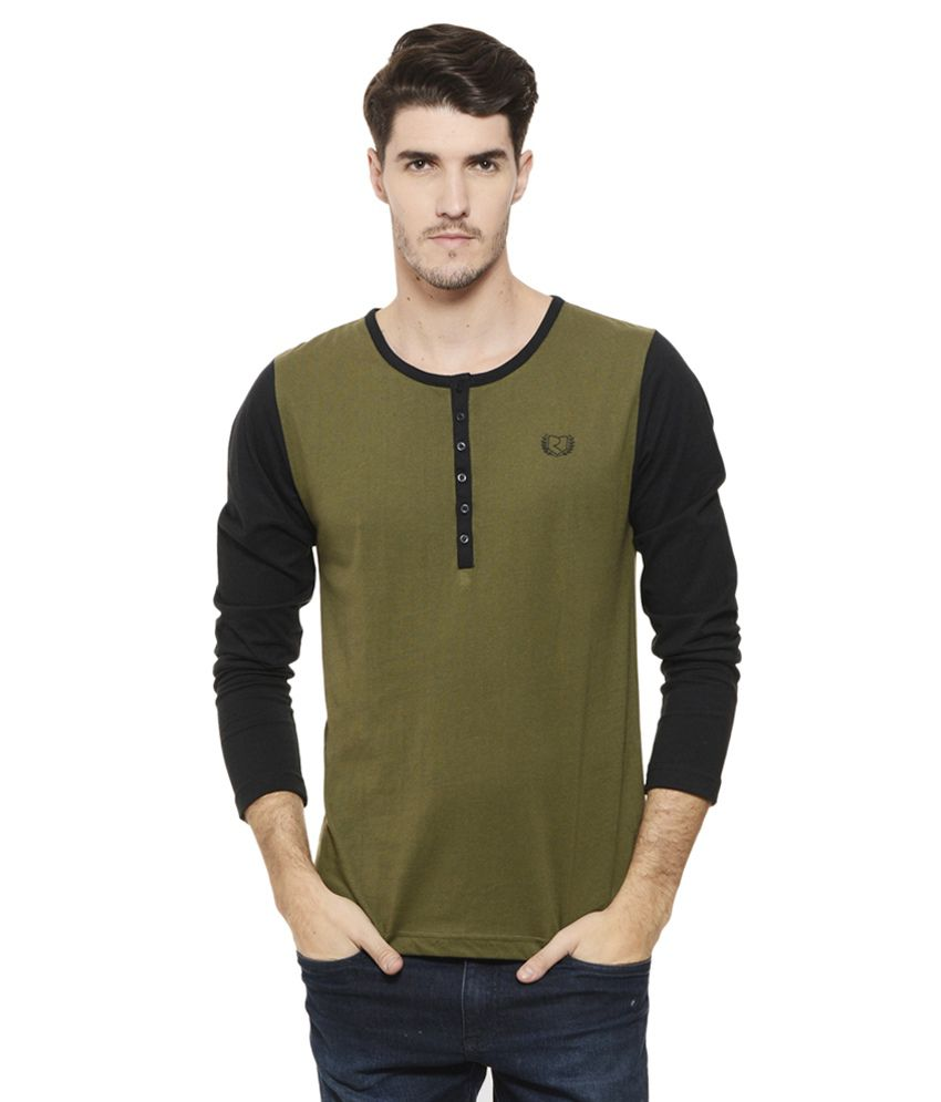 Rigo Green Henley T Shirt