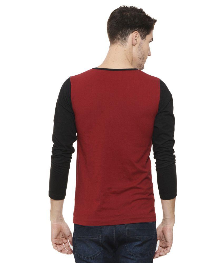 Rigo Maroon Henley T Shirt
