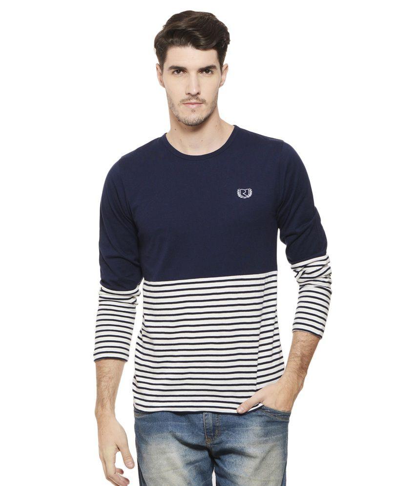 Rigo Navy Round T Shirt