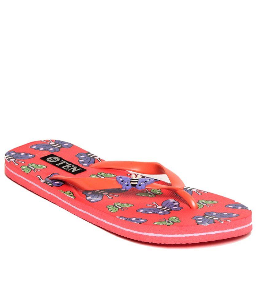 TEN Red Flip Flops
