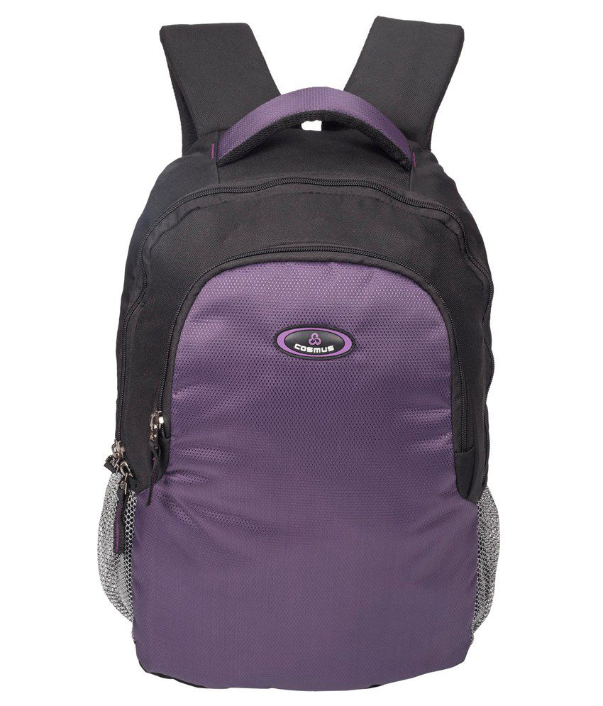 Cosmus Enterprises Purple Polyester Laptop Backpack