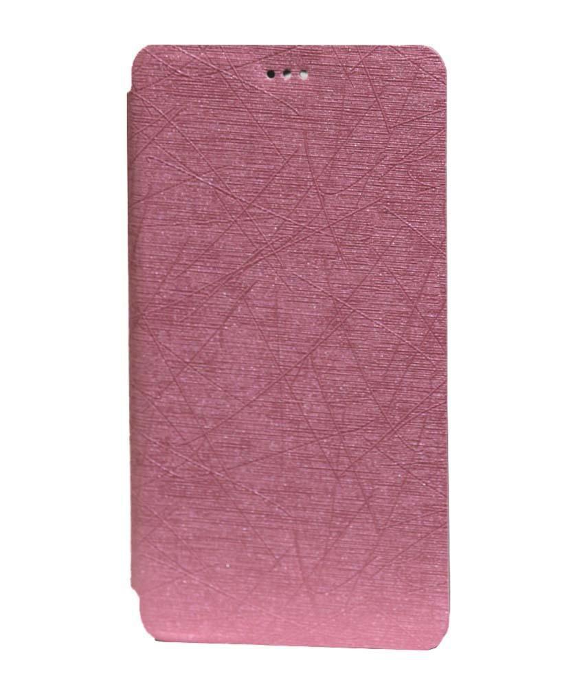 Jo Jo Flip Cover For Lenovo Vibe P1M - Pink