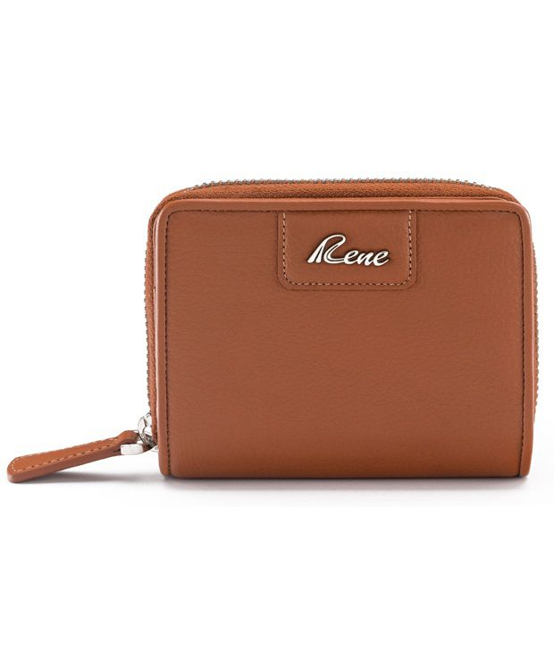 Rene Leather Regular Wallet-Tan