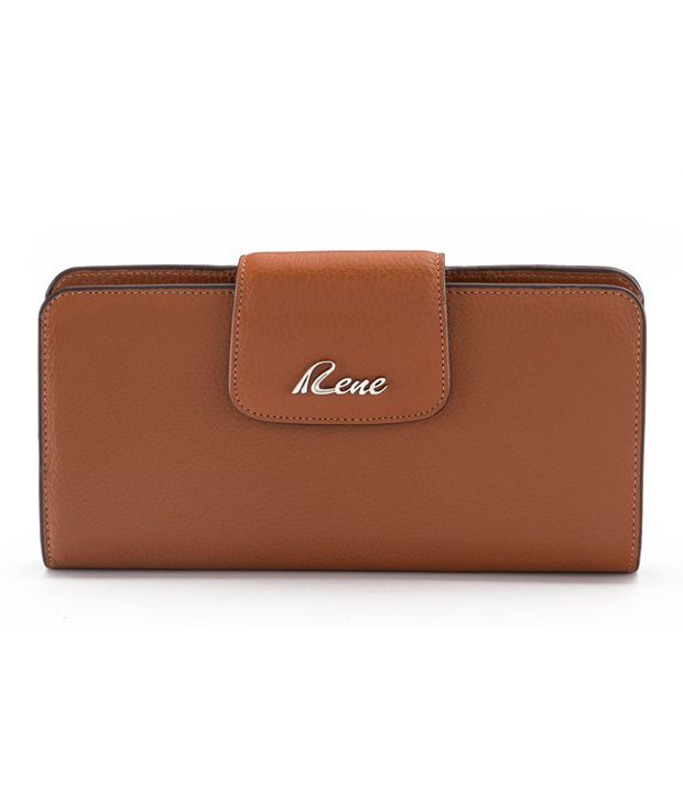 Rene Leather Regular Wallet-Tan