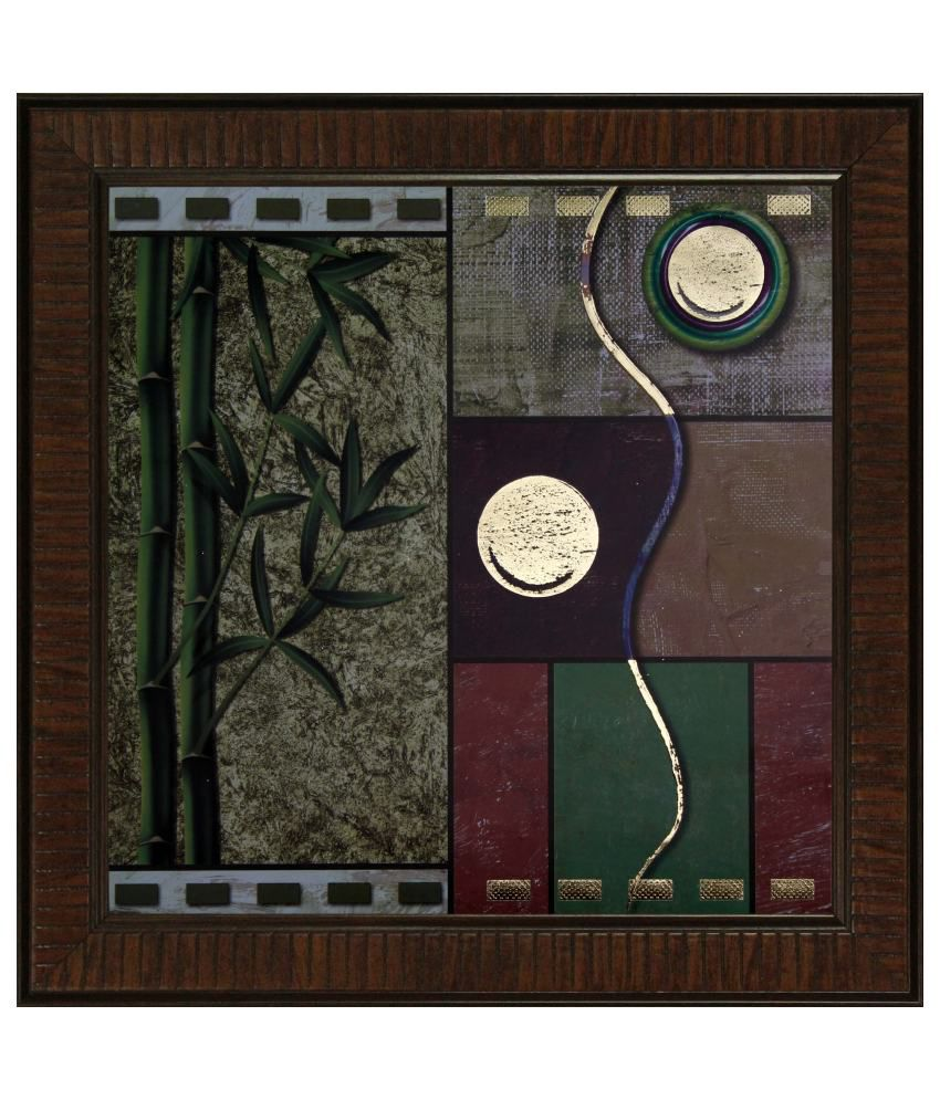 SAF Textured Wood Abstract Painting with Frame