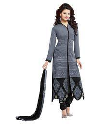 Dhruva Fab Grey Georgette Pakistani Suits Unstitched Dress Material
