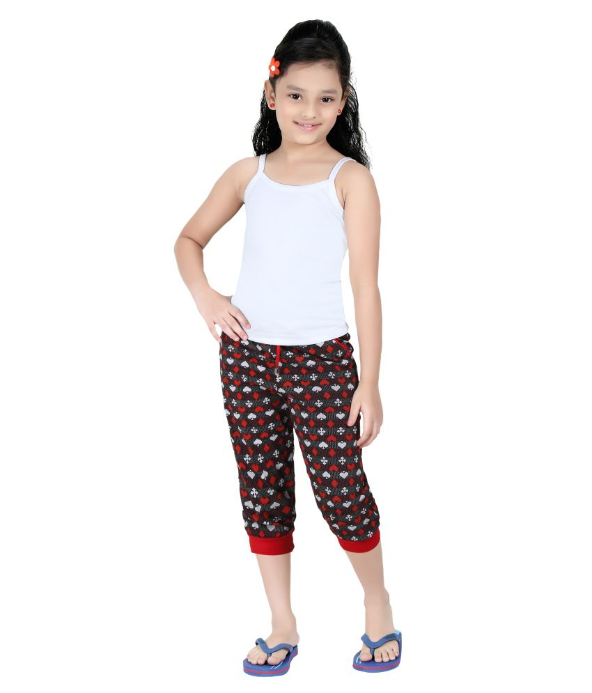Red RinG Multi Cotton Blend Capris