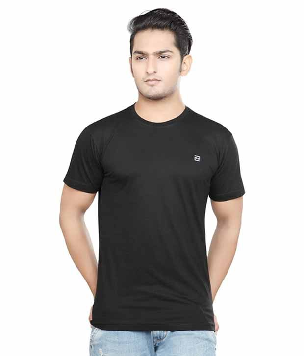SK Garments Black Round T Shirt
