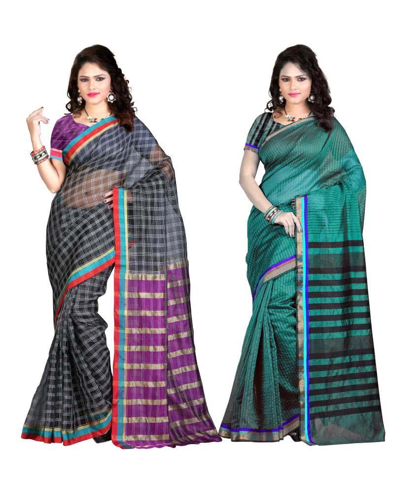 Fashion Now Multicoloured Cotton Saree Combos
