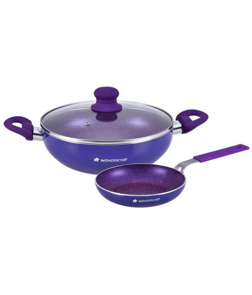 Non Stick Kitchen Set With Price: Wonderchef Non Stick Cookware Set 3 Pcs: Buy Online At