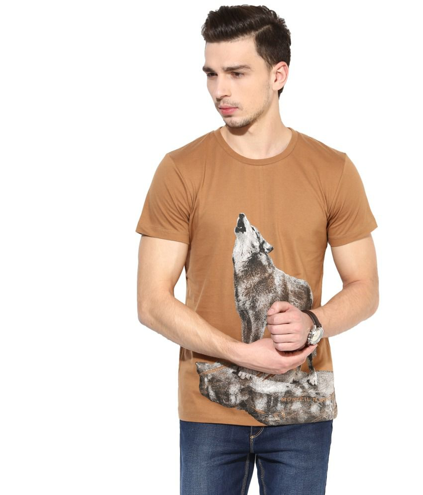 Monteil & Munero Brown Round T Shirt