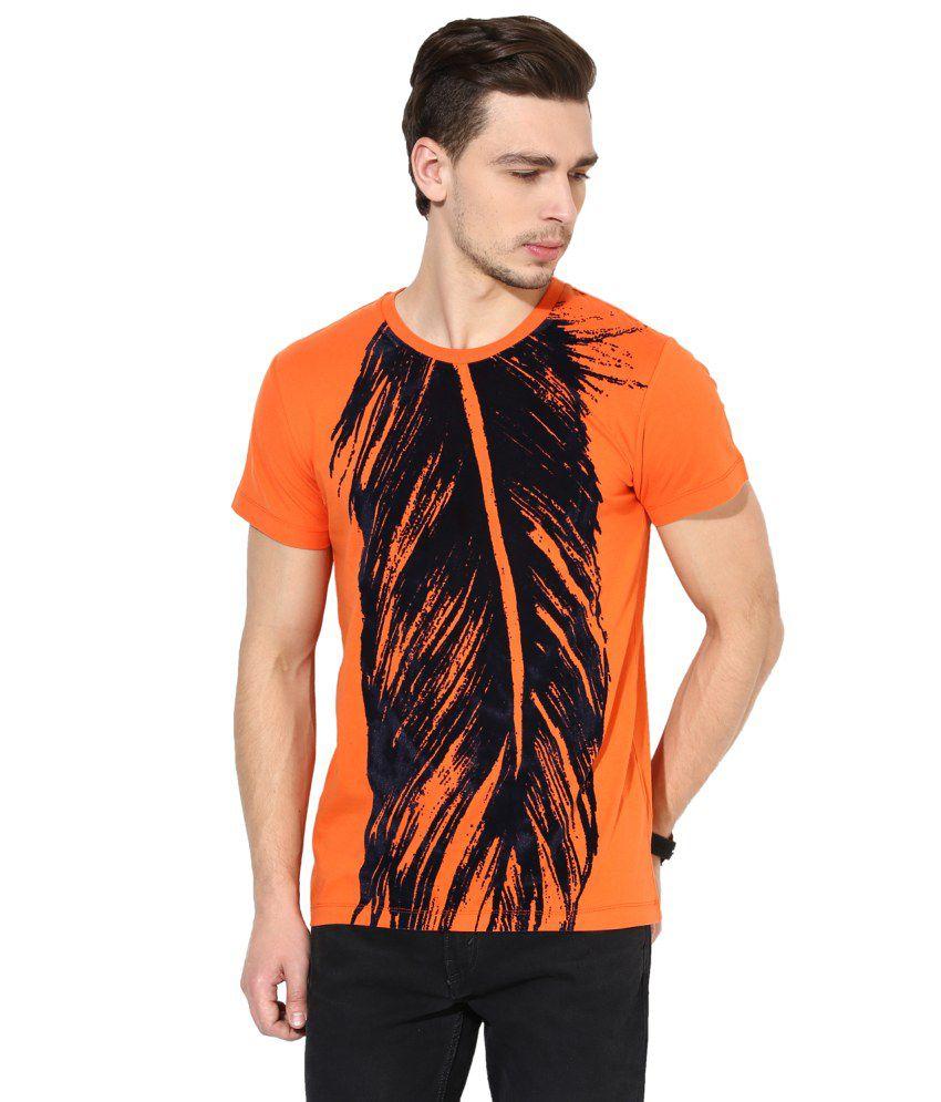 Monteil & Munero Orange Round T Shirt