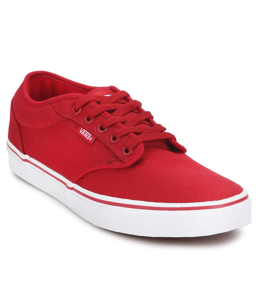 64ae711432 Vans Atwood Red Canvas Casual Shoes - Buy Vans Atwood Red Canvas Casual  Shoes Online at Best Prices in India on Snapdeal