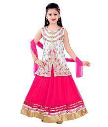 Saarah Pink Lehenga Choli Set for Girls