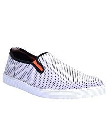 store with big discount cheap sale release dates Zoot24 White Canvas Shoes 8Sq8tNOX0