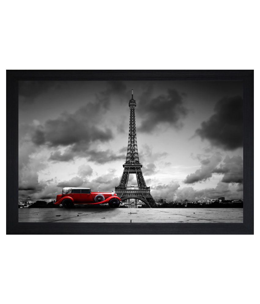 SAF Matte Architecture Paintings with Wooden Frame