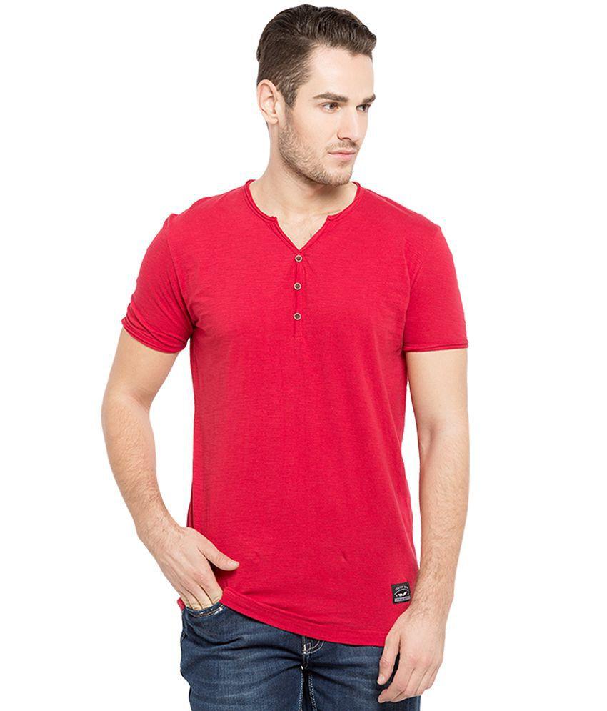 Status Quo Red V-Neck T Shirt