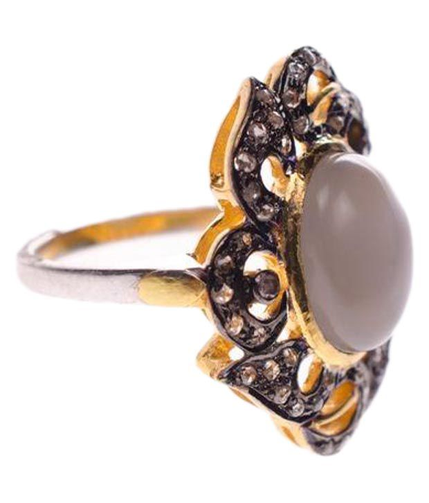 My DT Lifestyle 14k Gold Moonstone Ring