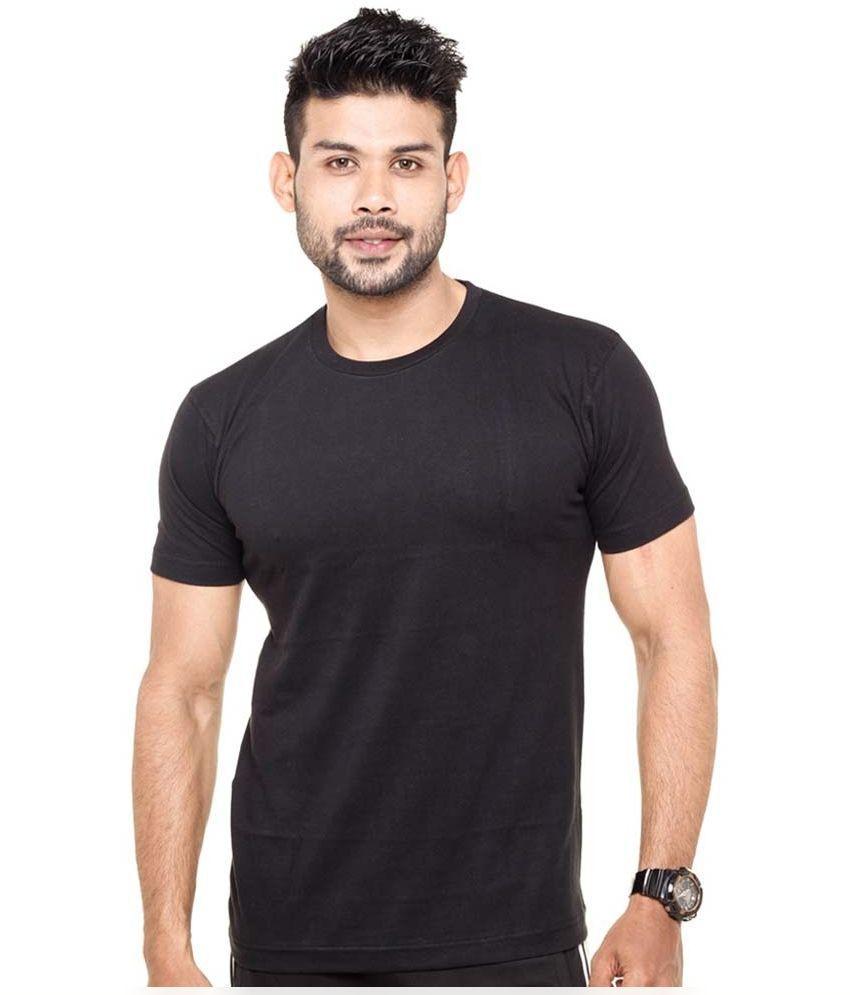 Tripr Black Round T Shirt