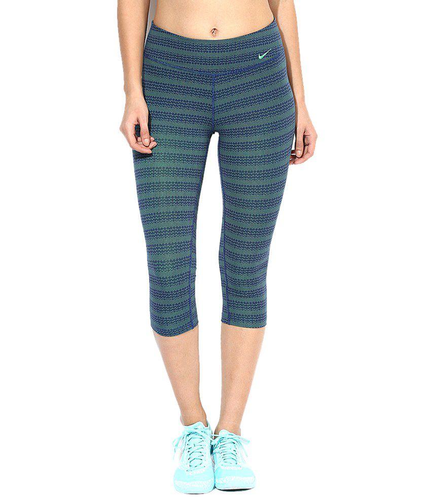Nike Green Cotton Capris