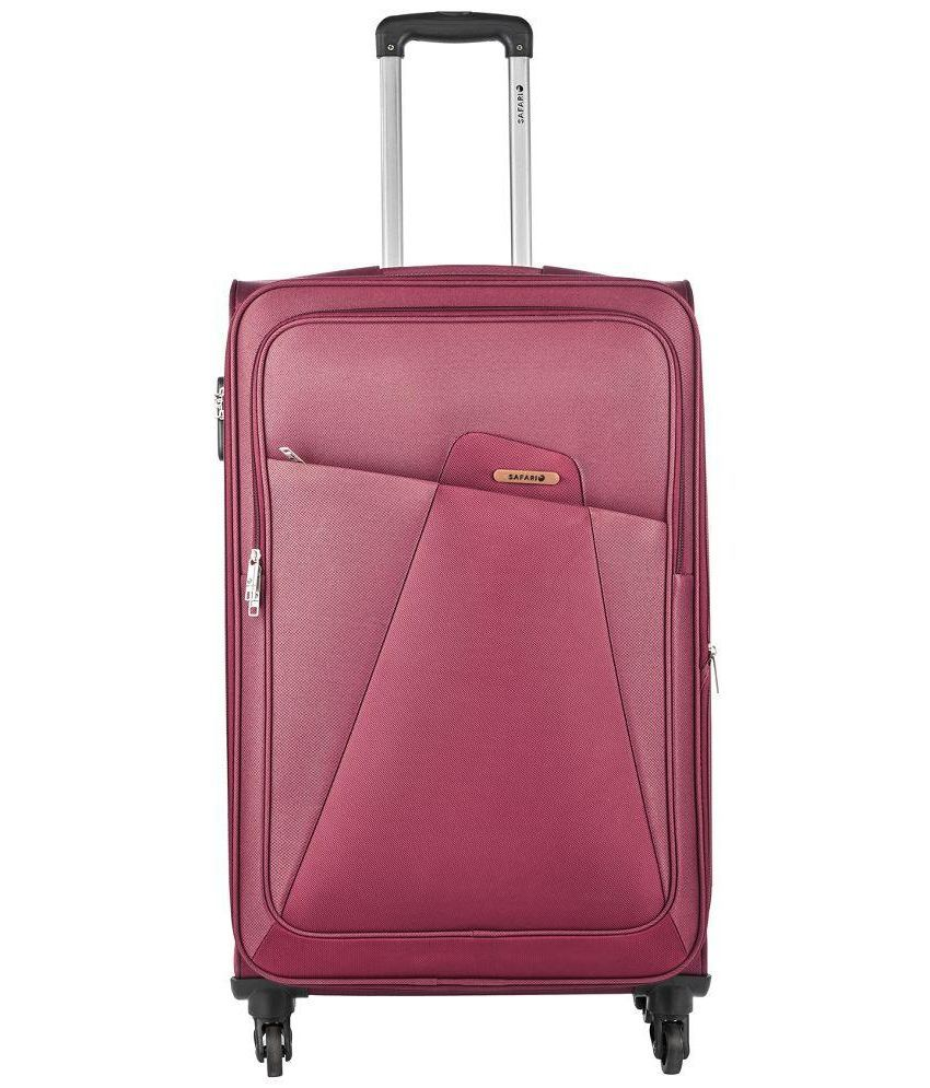 ca07491a09 Safari Maroon Polyester Trolley Bag - Buy Safari Maroon Polyester Trolley  Bag Online at Low Price - Snapdeal