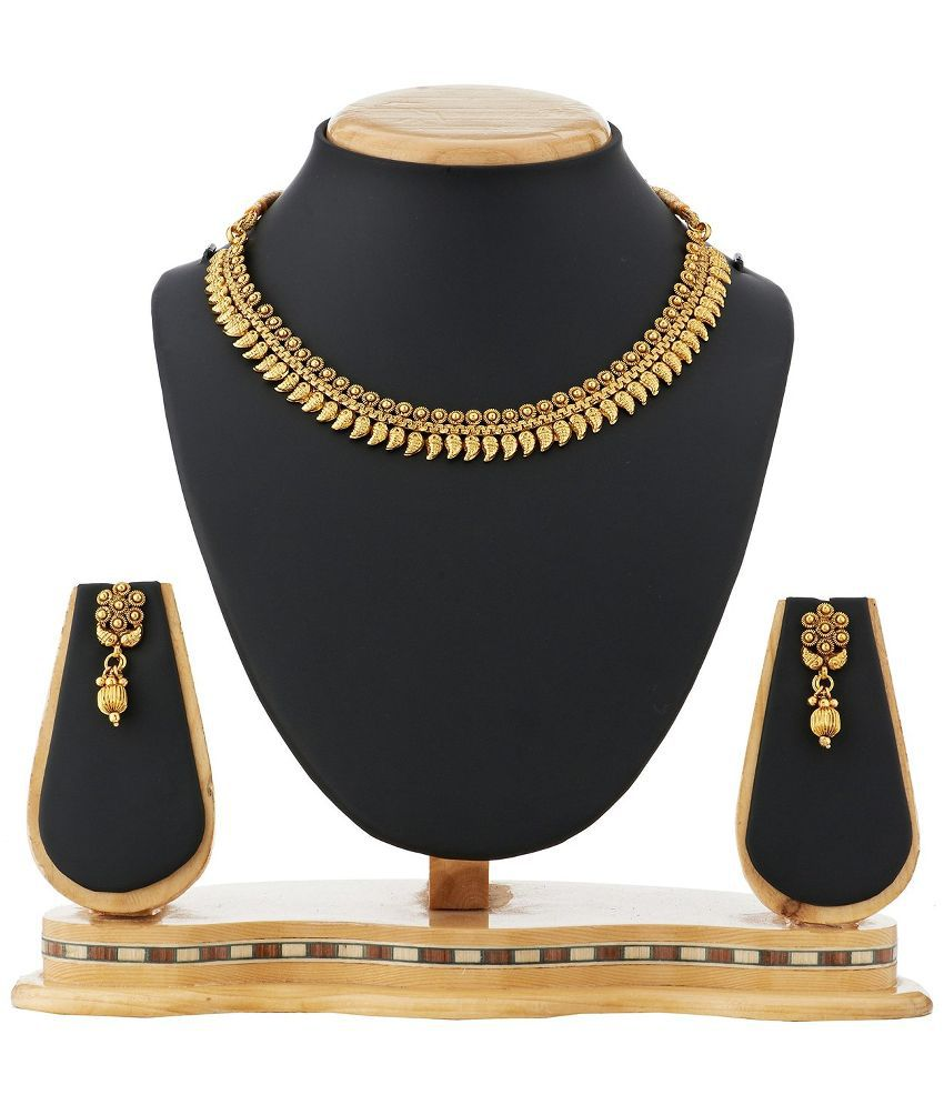 Satyam Jewellery Nx Golden Copper Necklace Set