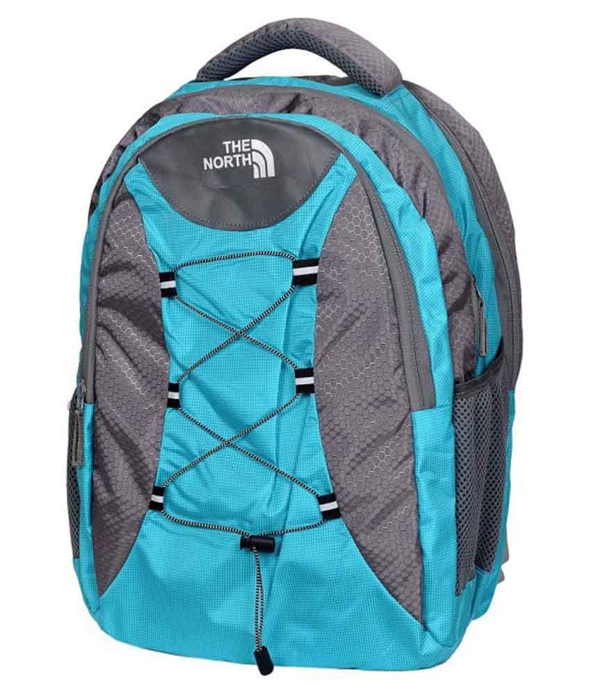 Fipple Blue Canvas Laptop Compatible Backpack