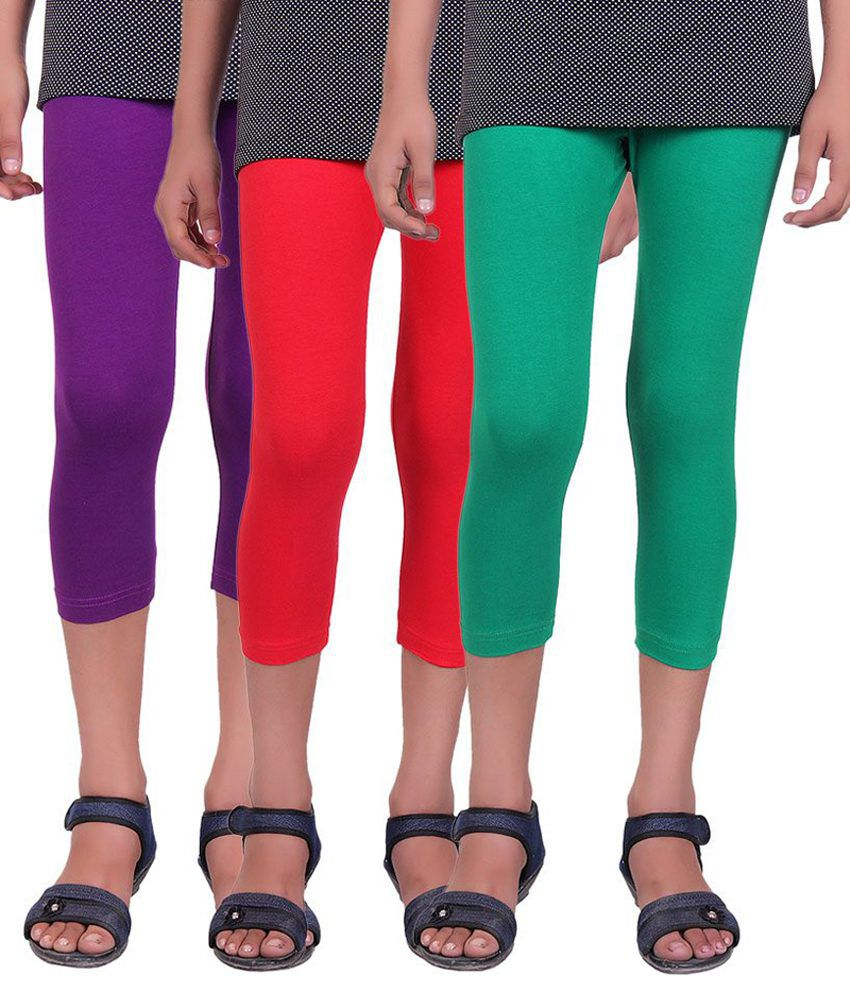 Alisha Multicolour Capris - Pack of 3