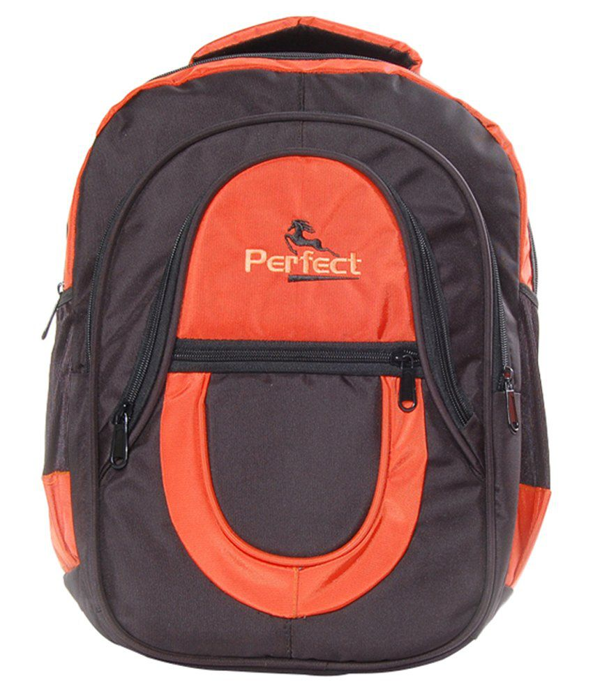 BBC Perfect Orange Polyester Laptop Bag