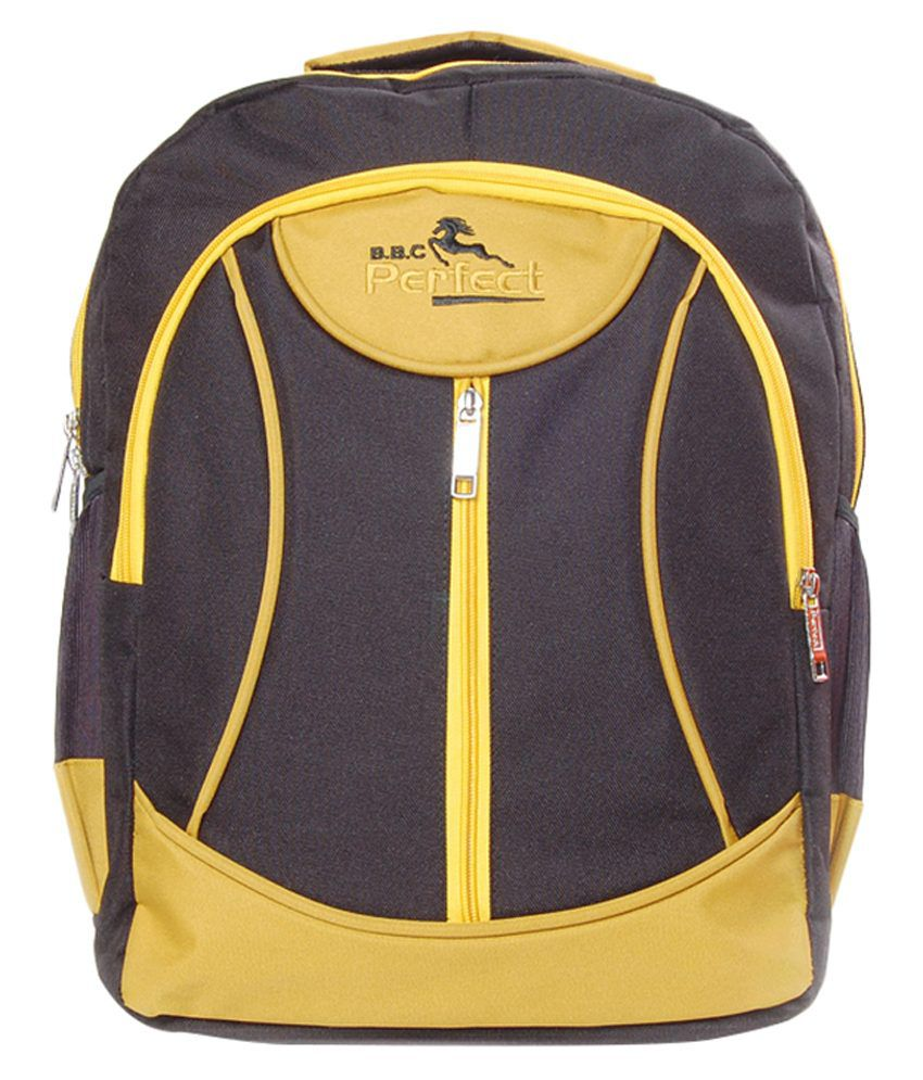 BBC Perfect Yellow Polyester Laptop Bag