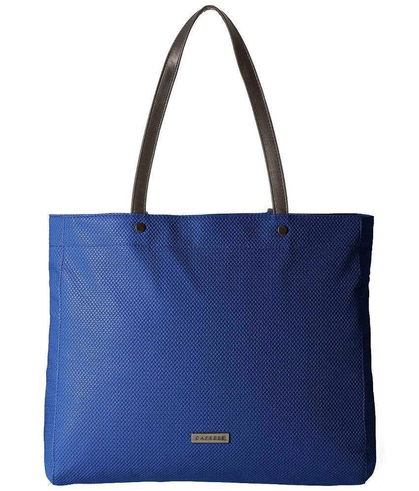 Caprese Blue Faux Leather Shoulder Bag
