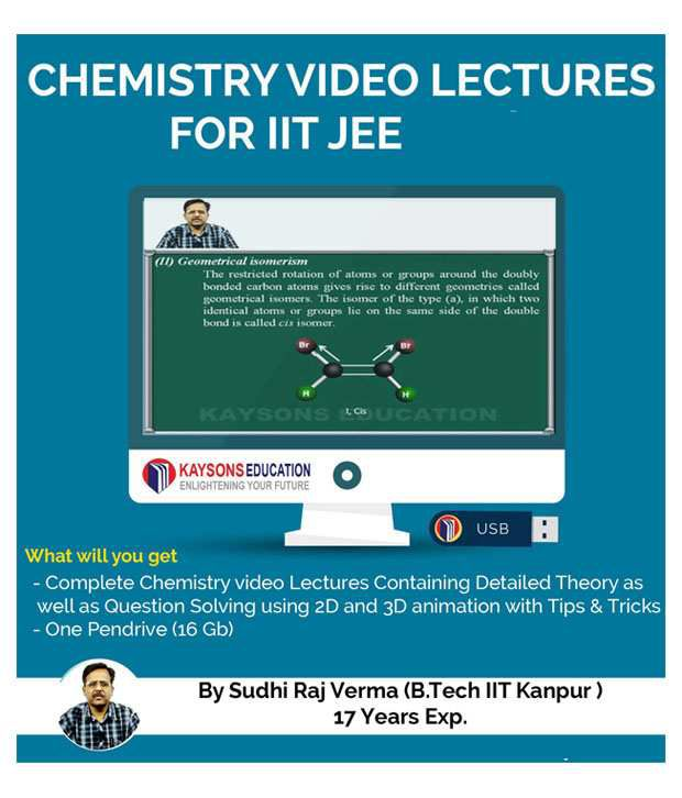 IIT JEE Chemistry Preparation Material: Video Lectures for JEE Main and Advance Designed in Pendrive/Micro Sd Card By IITian