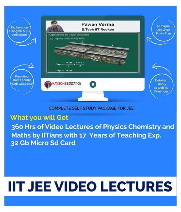 Kaysons JEE Main & Advanced (PCM) VIDEO LECTURE in Pendrive/Micro Sd Card By IITians with 17 years of Experience