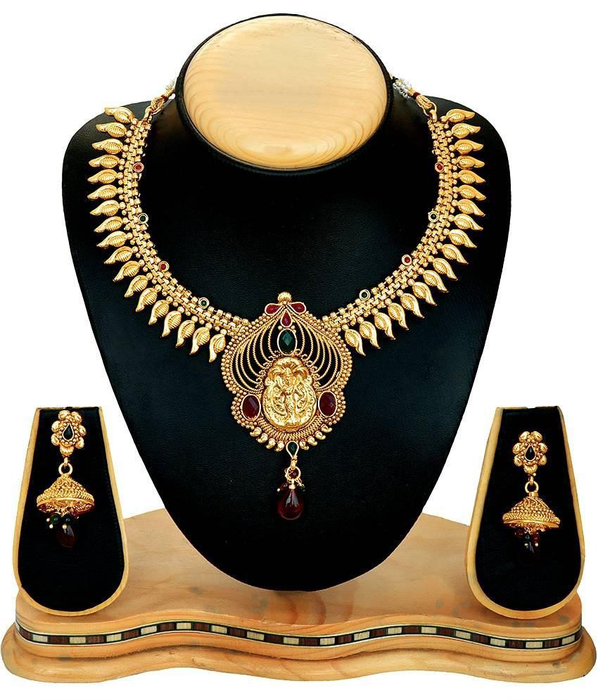 RG Fashions Golden Designer Necklace