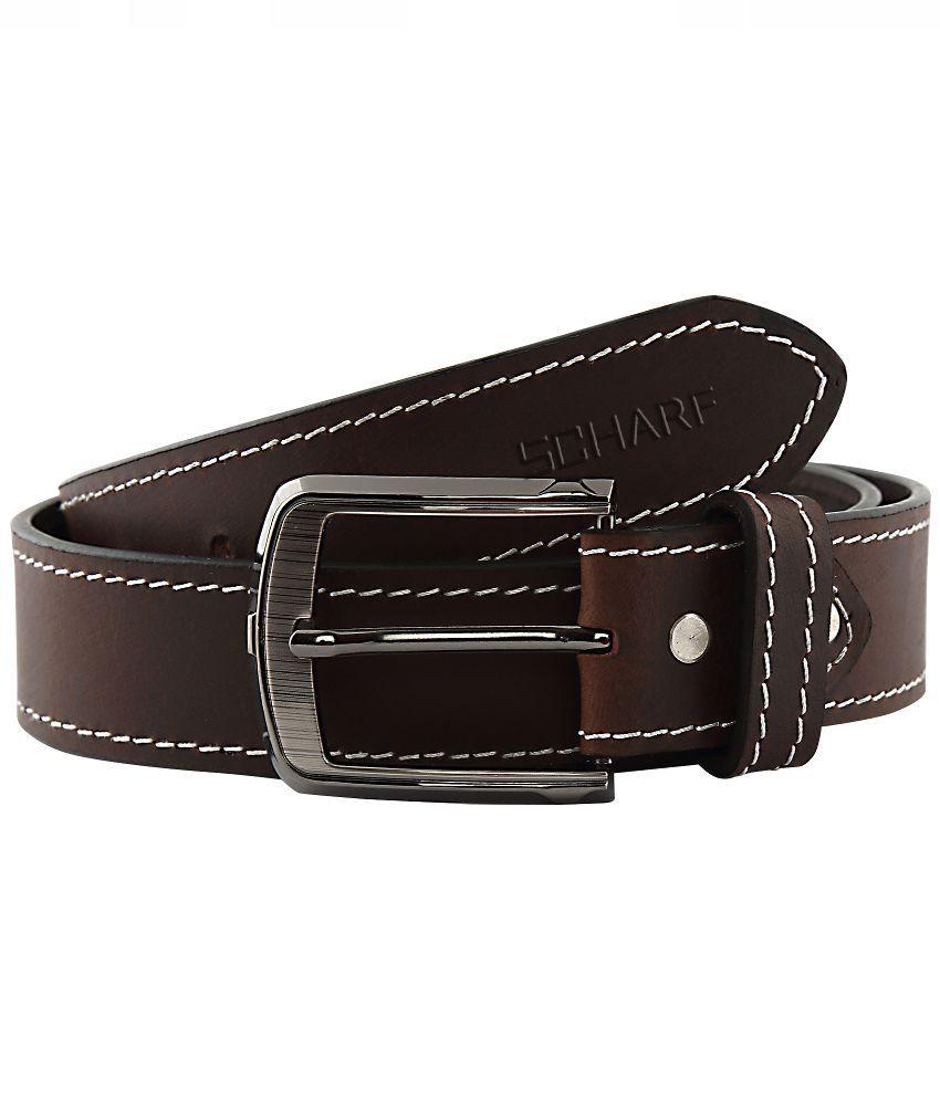 Scharf Brown Leather Belt for Men