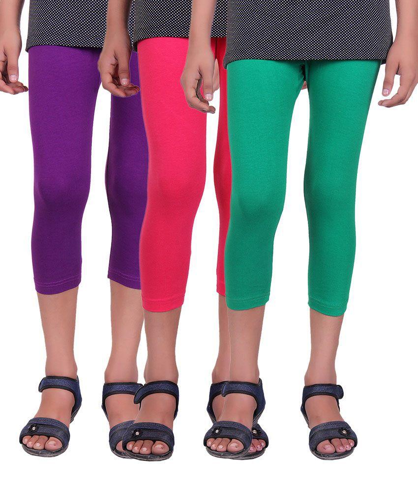 Alisha Multicolour Capris - Pack of 3