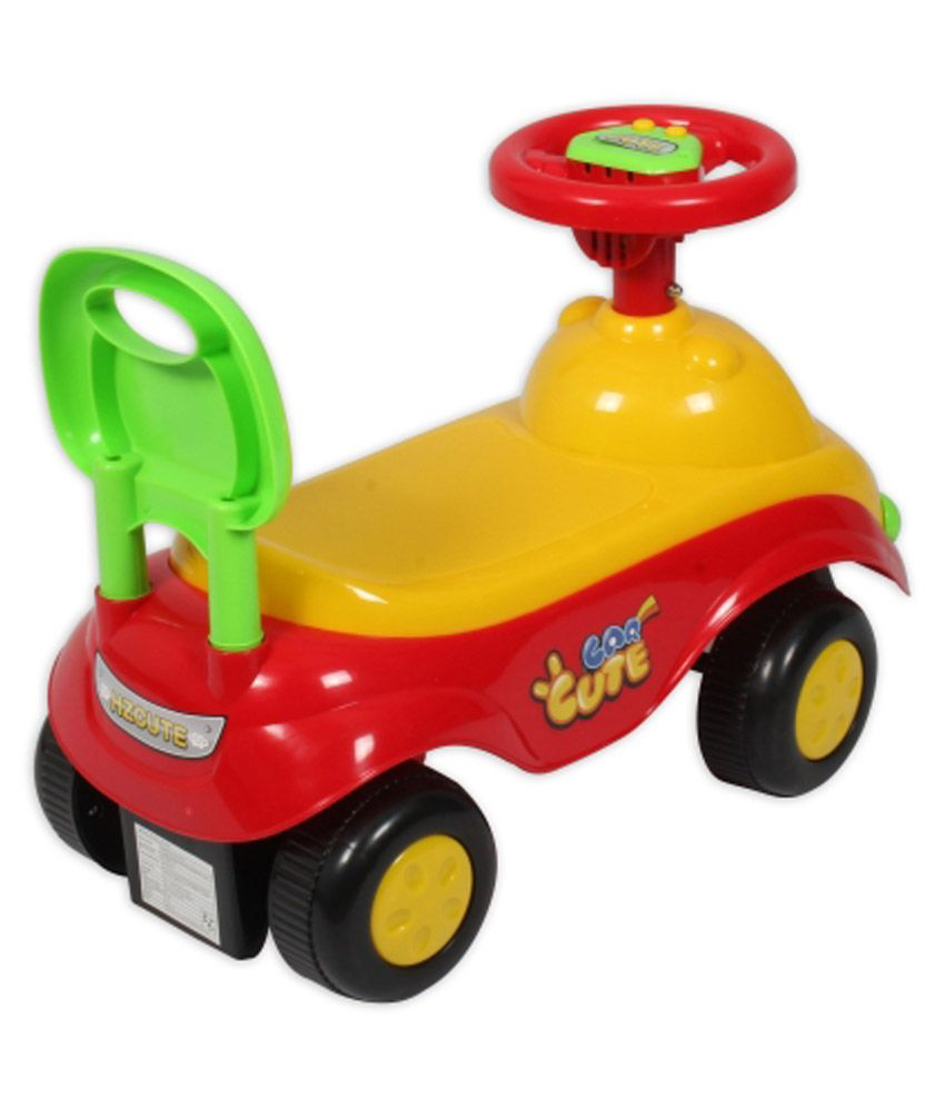 ez playmates cute car kids ride on yellowred