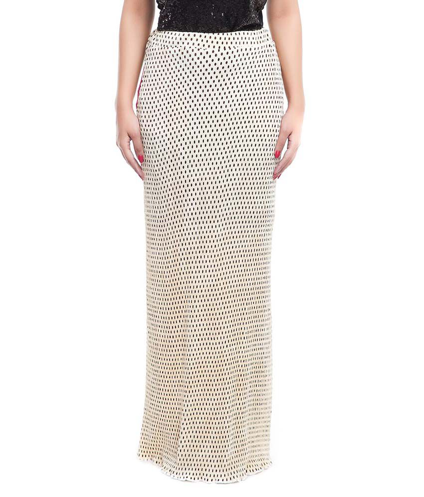 buy zoys beige crepe maxi skirt at best prices in
