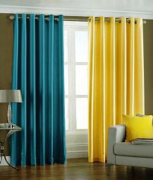 Quick View. Home Decor Multicolour Polyester Curtain ...