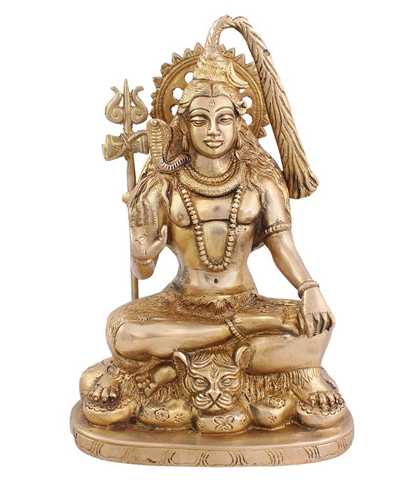 Arihant Craft Yellow Brass God Idol