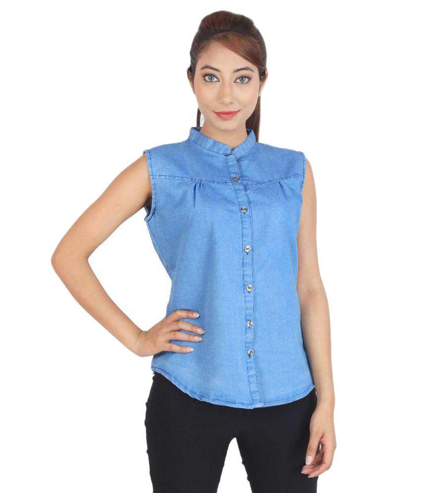 Buy cherry clothing blue denim shirts online at best for Buy denim shirts online