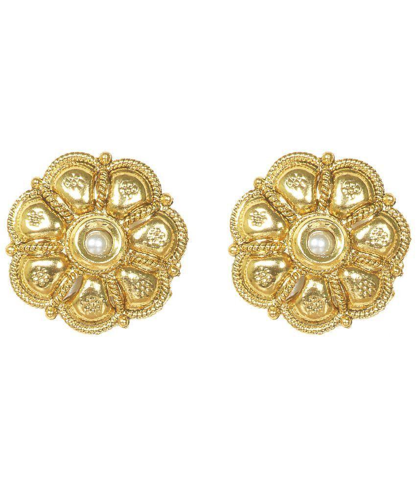 Jewels Gold Golden Alloy Stud Earrings