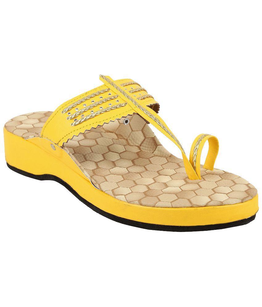 Ridhi Sidhi Yellow Heels