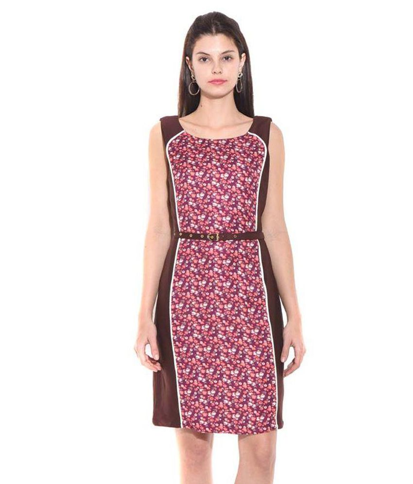 West By East Multi Color Rayon Bodycon Dresses