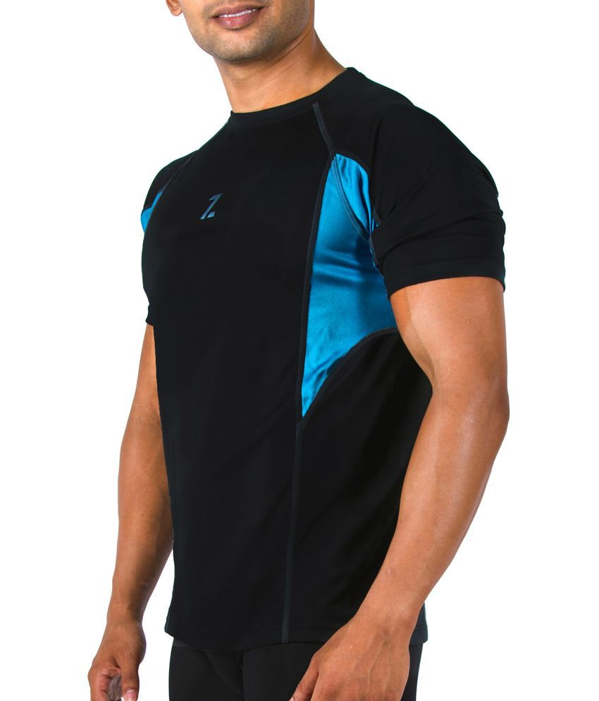Azani Men's Sub-Zero Tech Short Sleeve T-Shirt Black/Squadron Blue