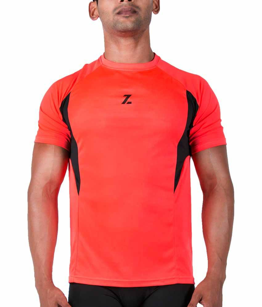 Azani Men's Sub-Zero Tech Short Sleeve T-Shirt Diablo Orange/Black