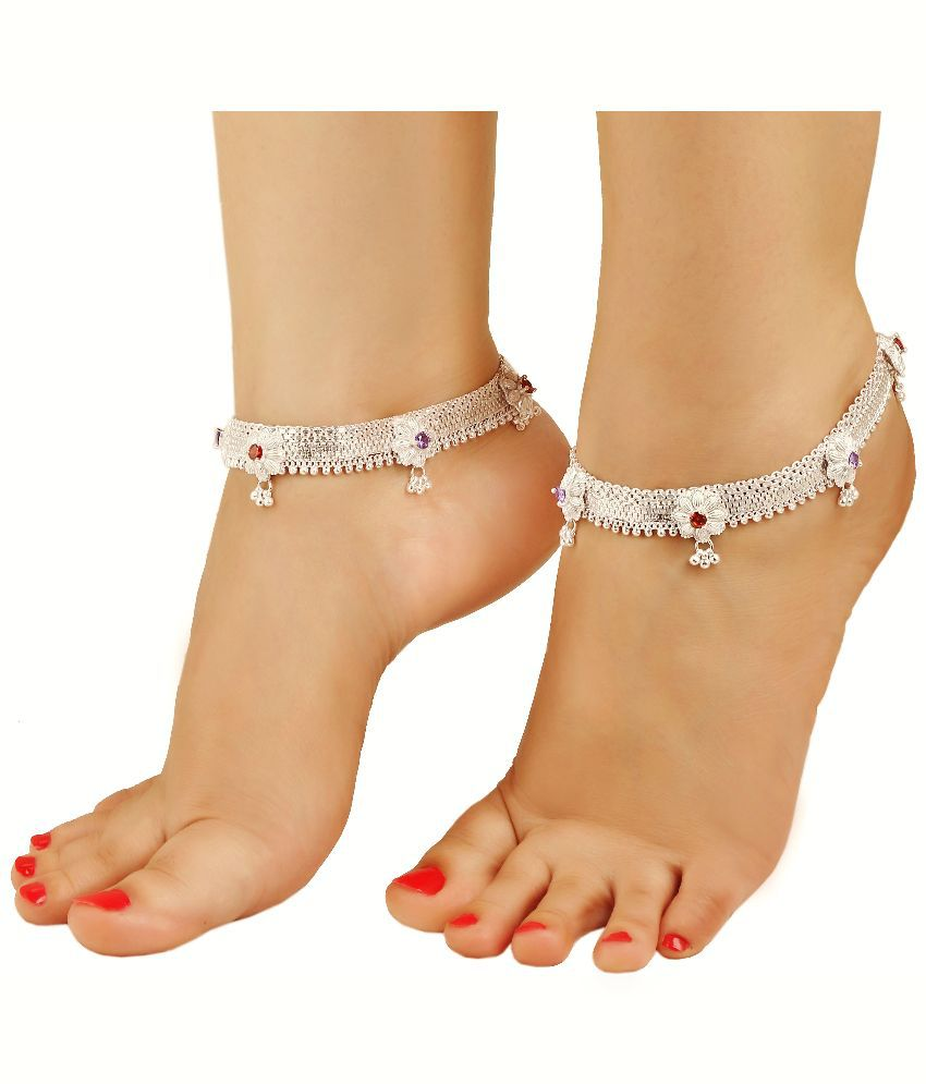 35392327ee4 Gupta Payals Silver Anklet   Buy Gupta Payals Silver Anklet Online in India  on Snapdeal