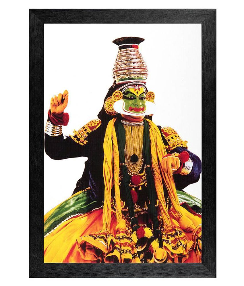 JAF Multicolour Kathakali Painting With Textured Frame