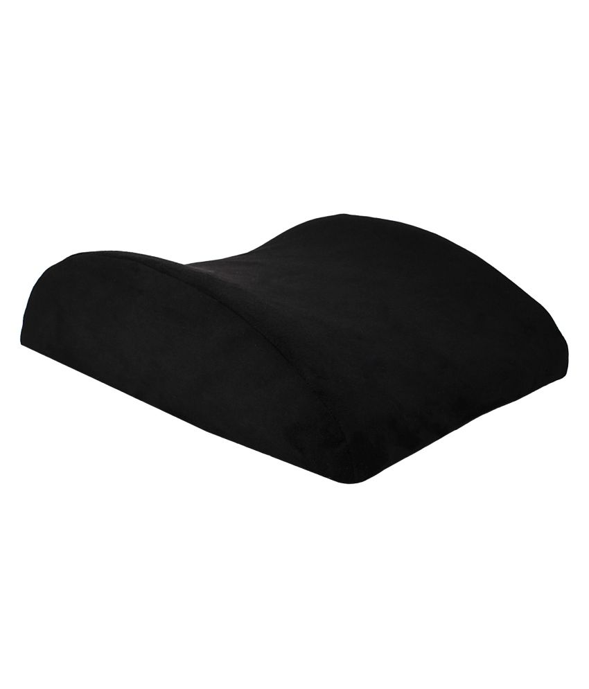 Magasin Black Memory Foam Lumbar Back Support Cushion Pillow For All