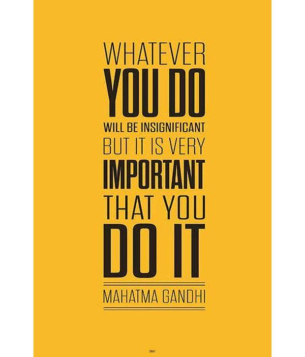 Posterhouzz Mahatma Gandhi Quotes Poster